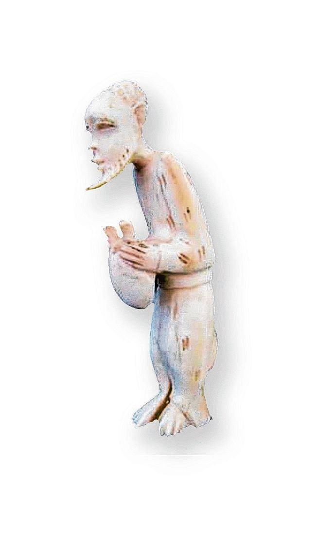 Dit beeldje, aangetroffen in een Nederlandse antiekwinkel, is van ivoor uit de jaren negentig en dus illegaal.