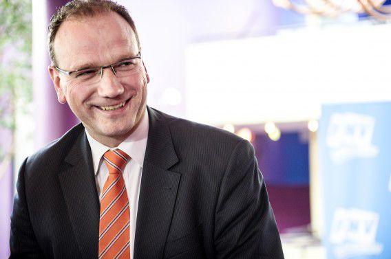 FNV-voorzitter Ton Heerts op het congres van de FNV vorige week waar de vernieuwing van de vakcentrale werd besproken. Voor de FNV is de instemming van de Bondsraad belangrijk.