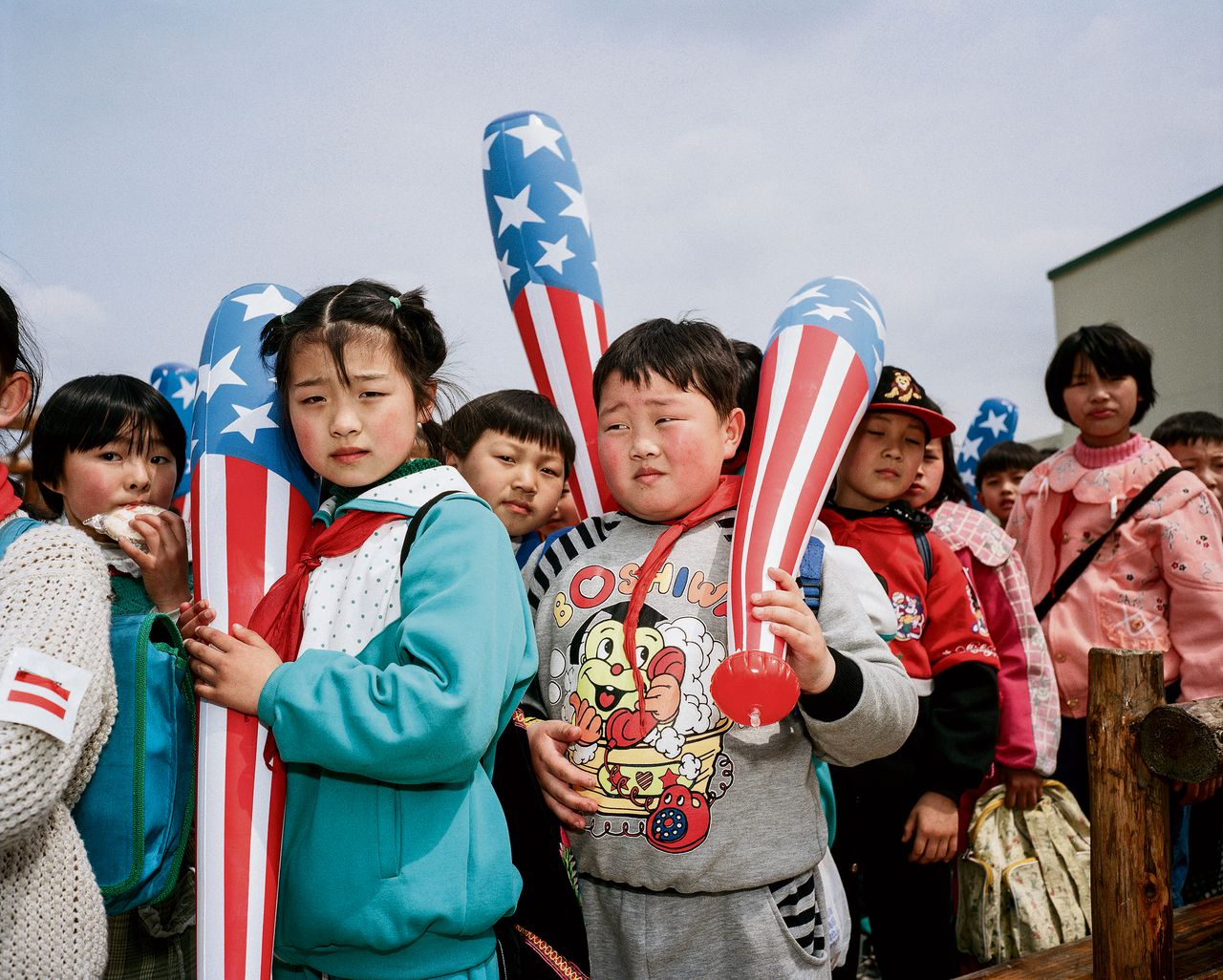 Kinderen in het American Dream Park, in Shanghai (1997)
