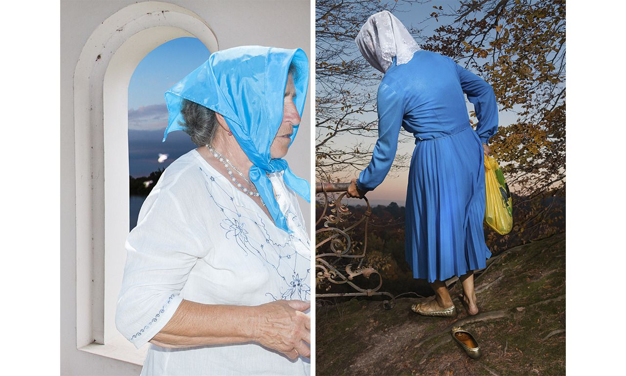 Op Unseen toont Elena Subach foto's van grootmoeders in Oekraïne.