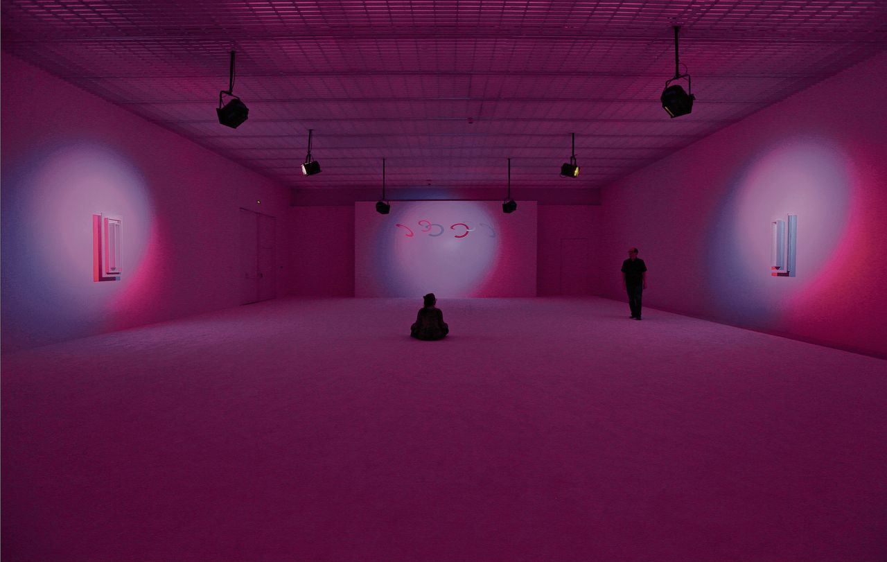 La Monte Young et Marian Zazeela, Dream House: Sound and Light Environment, 2018 Centre Pompidou-Metz, France.