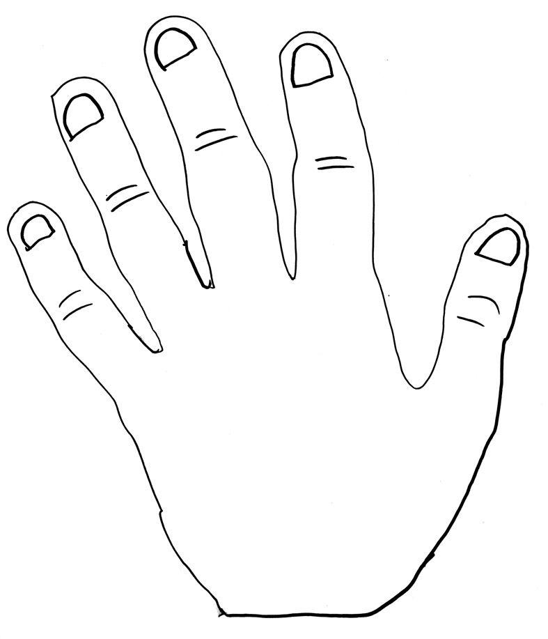 De hand van papa Ik heb papa op een stoel neergezet en met een pen zijn hand getekend! Sofie Tewitt, 7 jaar, uit Rotterdam