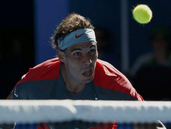 Rafael Nadal had moeite om de Bulgaarse Grigor Dimitrov te verslaan in de kwartfinales van de Australian Open.