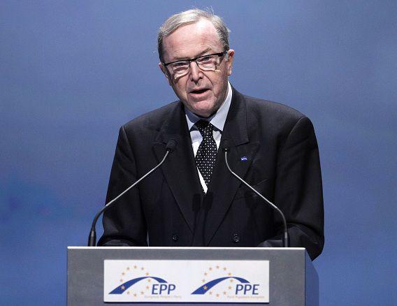 Wilfried Martens tijdens een toespraak in Marseille in 2011.