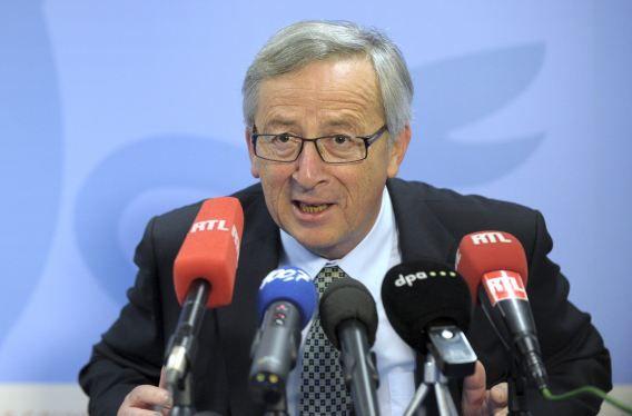 Jean-Claude Juncker eind vorige maand tijdens een persconferentie in Brussel.