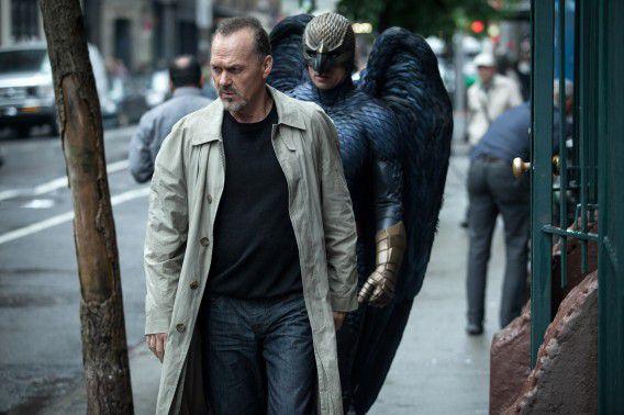 Michael Keaton in de film Birdman.