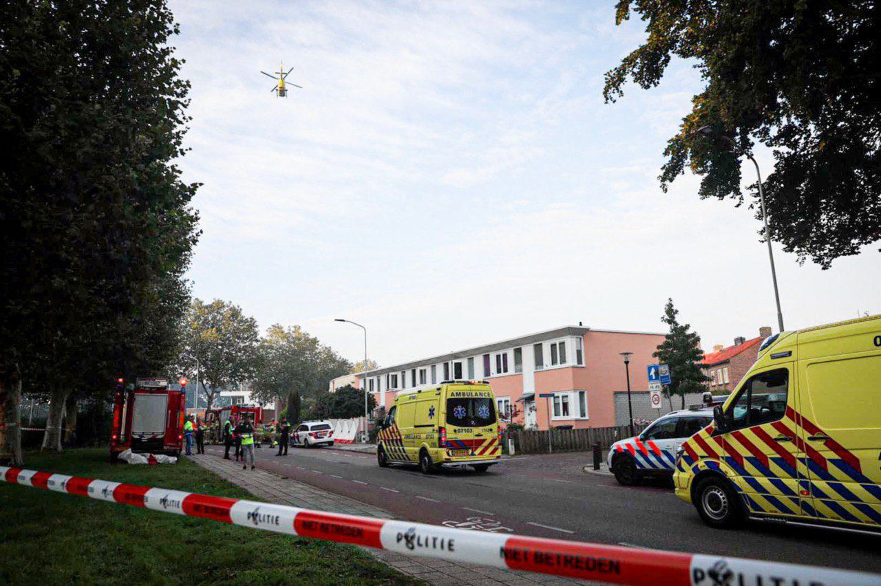 Ambulances in Doesburg.