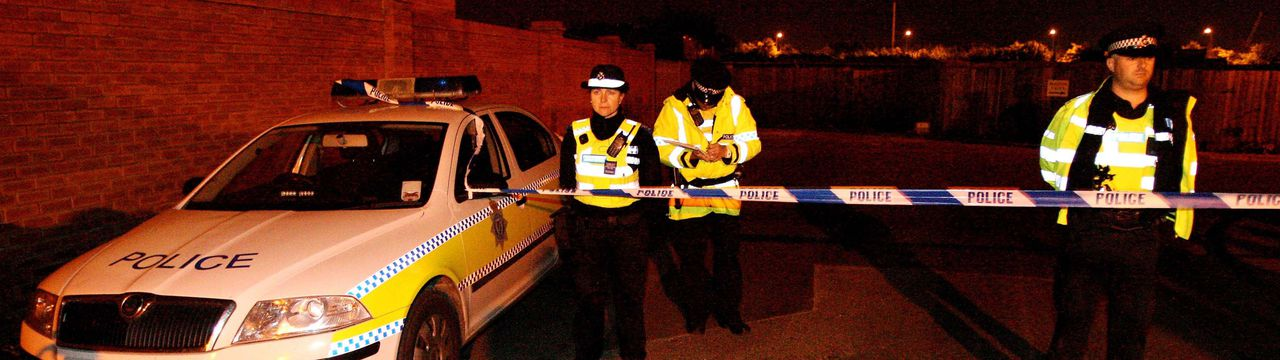 Police in Broadfield Lane, Boston, Lincolnshire, where five men were killed tonight in an explosion at an industrial unit. PRESS ASSOCIATION Photo. Picture date:Wednesday July 13, 2011. A police spokeswoman said that a sixth man was taken to Boston Pilgrim Hospital, suffering from serious injuries, and had since been transferred to the Queen's Medical Centre, Nottingham. See PA story POLICE Explosion. Photo credit should read:Chris Radburn/PA Wire