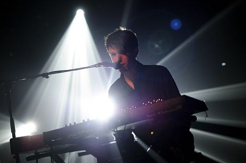 British electronic composer James Blake performs on the Miles Davis stage during the 45th Montreux Jazz Festival, in Montreux on July 5, 2011. AFP PHOTO / FABRICE COFFRINI