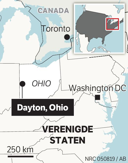 Dayton in de staat Ohio