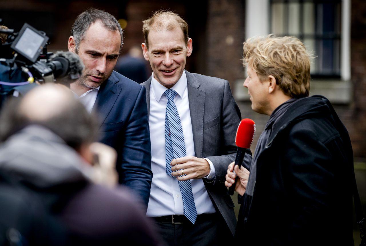Menno Snel (D66), vorige week bij aankomst bij de Stadhouderskamer voor een gesprek met formateur Mark Rutte.