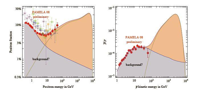 Voorlopige, en formeel niet publieke, resultaten van het PAMELA-experiment. Foto Marco Cirelli et al.