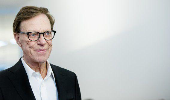 Frans Molenaar op 14 september 2014 tijdens de presentatie van zijn 98e couturecollectie.