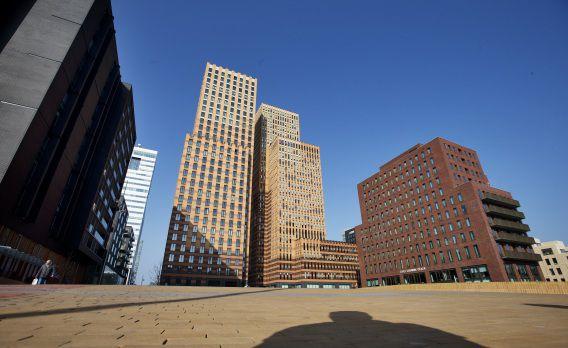 Kantoorgebouwen aan de Zuidas, het zakencentrum van Amsterdam.