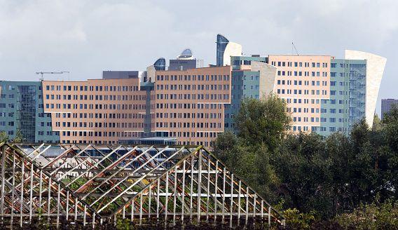 Nieuwbouw KPMG in Amstelveen langs de A9.