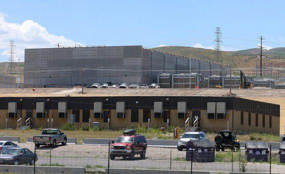 Het datacentrum in aanbouw van de Amerikaanse National Security Agency (NSA) in Bluffdale (Utah), dat gebruik blijkt te maken van het geheime afluisterprogramma PRISM. Het centrum moet opengaan dit najaar.
