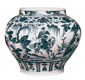 Pot uit de Yuan-dynastie.