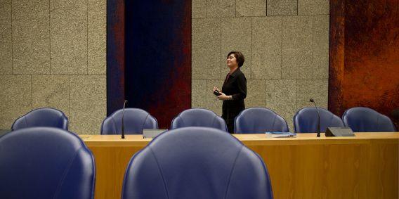 Voorzitter Anouchka van Miltenburg in de Tweede Kamer.