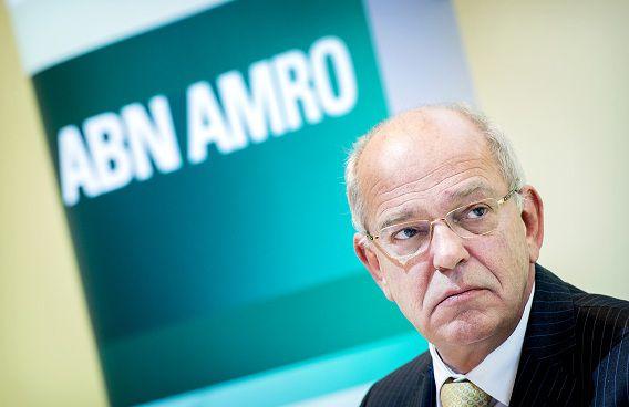ABN Amro-topman Gerrit Zalm tijdens de presentatie van de jaarcijfers 2012.