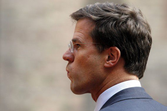 Netherlands' Prime Minister Mark Rutte waits to welcome Denmark's Prime Minister Helle Thorning-Schmidt at the Binnenhof, seat of Dutch government in The Hague, Netherlands, Thursday, Oct. 27, 2011. (AP Photo/Bas Czerwinski)