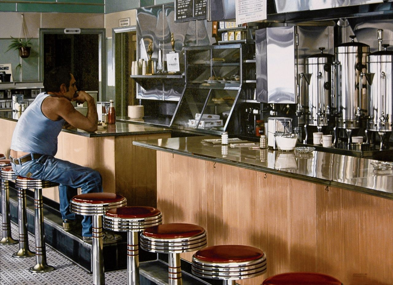 Ralph Goings, Amsterdam Diner, 1980.