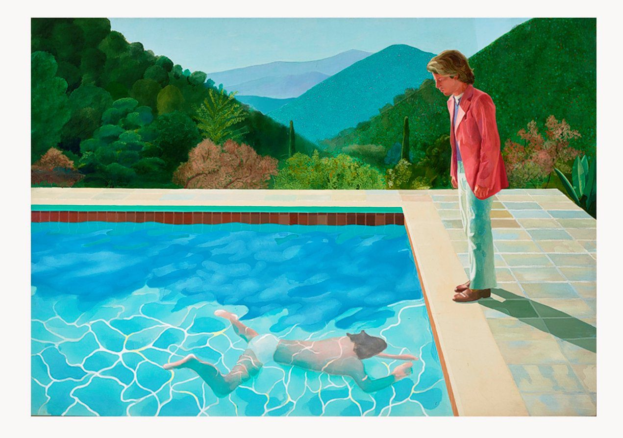 David Hockney, Portrait of an Artist (Pool with Two Figures), 1972. (213,5 x 305 cm)
