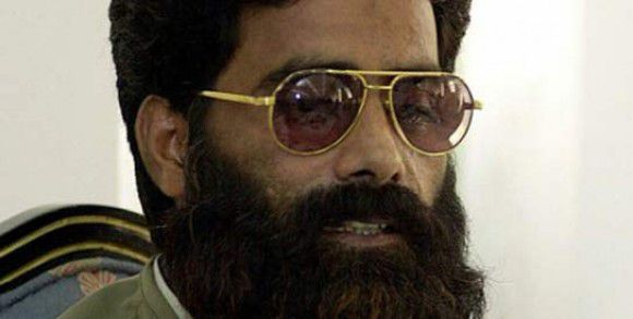 This file photo taken on July 11, 2001 shows Mohammad Ilyas Kashmiri, commander-in-chief of the Kashmiri militant group Harkatul Jihad al-Islami, addressing a press conference in Islamabad. — Photo by AFP