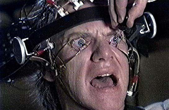 "Net als Clockwork Orange: ""I've suffered the tortures of the damned, sir."""