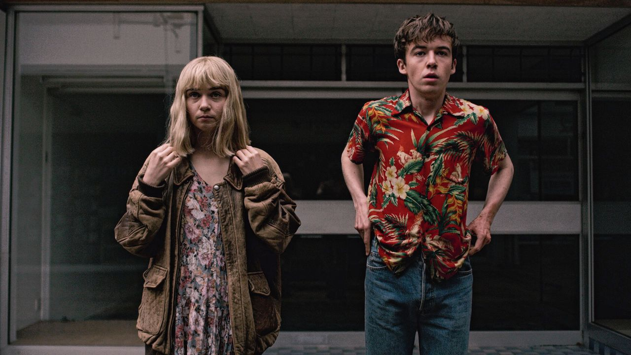 Jessica Barden en Alex Lawther in The End of the F***ing World