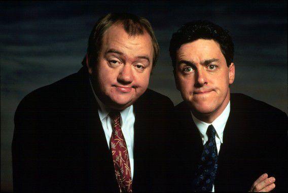 Mel Smith (links) en Rhys Jones.