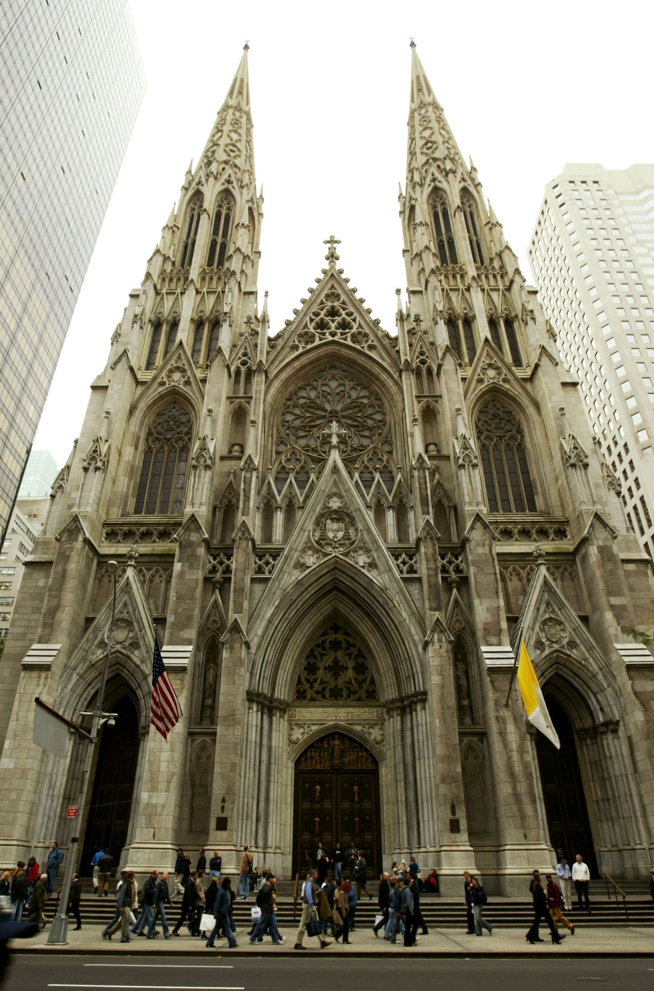 St. Patrick's Cathedral is seen 17 October 2003 in New York City. (Chris Hondros/Getty Images/AFP) -FOR NEWSPAPER AND TV USE ONLY-