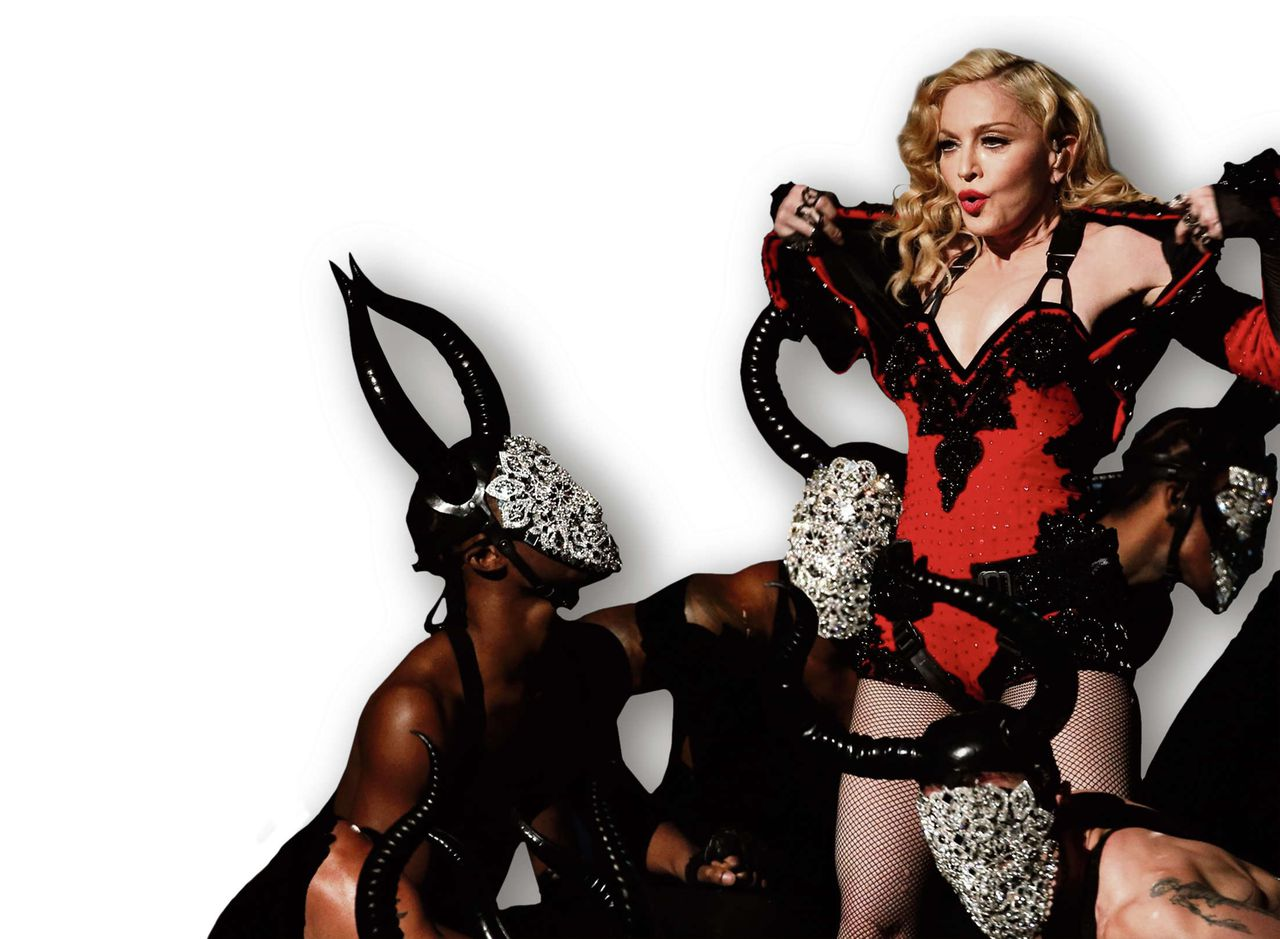 Madonna op 8 februari tijdens de Grammy Awards in Los Angeles