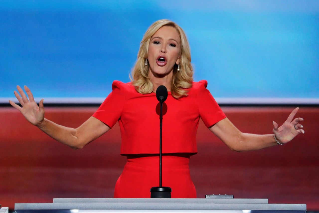 Pastor Paula White op de Republikeinse nationale conventie in Cleveland, in 2016.